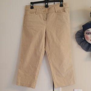 Kenar Beautiful Cream Crop Pants